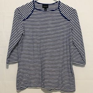 Who What Wear Blue & White Shirt Womens S